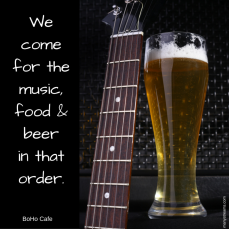 music beer food