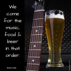 music beer food