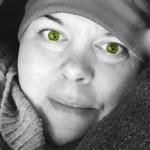 Me green eyes
